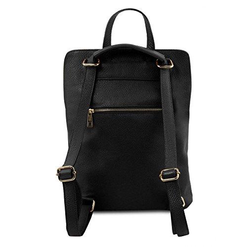 Femme en Sac Souple Rouge Bag TL141682 Dos Cuir TL Leather pour Noir à Tuscany x8w4B0p