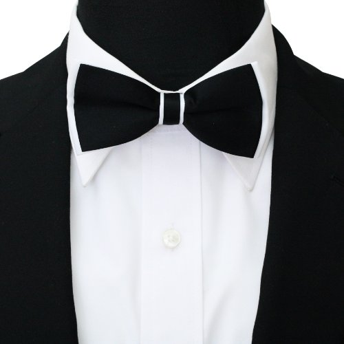 Bow amp; White Tie Men's Black Plain wIq0Fx