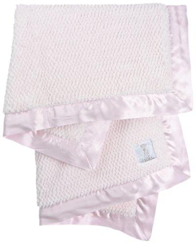 Little Giraffe Luxe Twist Baby Blanket, Pink
