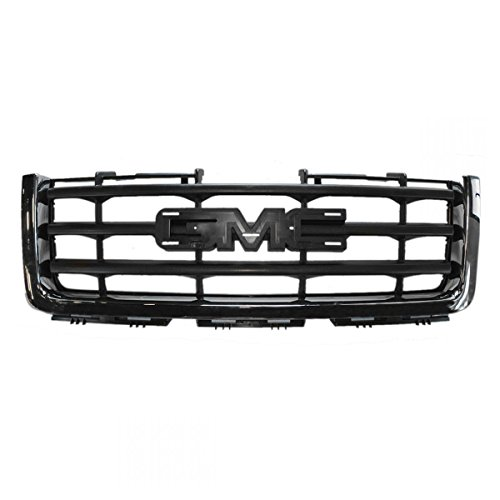 Grille Grill Chrome & Black Front For GMC Sierra 1500 Hybrid Pickup Truck