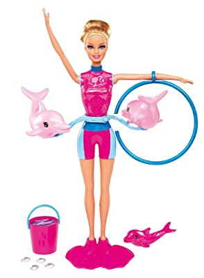 Barbie I Can Be Splash and Spin Dolphin Trainer Doll