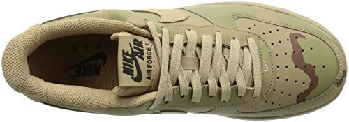 Nike Men's Air Force 1 '07 Lv8 Low-Top Sneakers Sand JXoqF9XYl