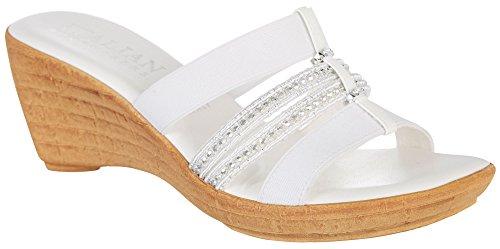 White Shoes Italian (ITALIAN Shoemakers Womens Creative III Dress Sandals 8.5 White)