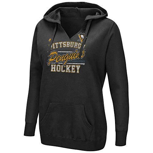 Majestic Athletic Hood (Majestic NHL Women's Raise The Level V-Neck Pullover Fleece Hoodie (XX-Large, Pittsburgh Penguins))