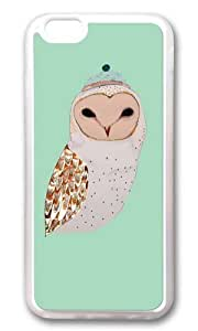 Apple Iphone 6 Case,WENJORS Adorable Barn Owl Soft Case Protective Shell Cell Phone Cover For Apple Iphone 6 (4.7 Inch) - TPU Transparent