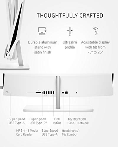 HP 24 Pavilion All-in-One PC, 10th Gen Intel i7-10700T Processor, 16 GB RAM, Dual Storage 512 GB SSD and 1TB HDD, Full HD IPS 24 inch Touchscreen, Windows 10 Home, Keyboard and Mouse (24-k0080, 2020)