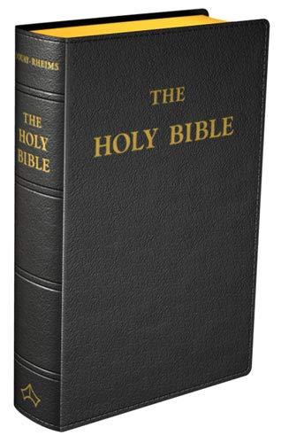 Douay-Rheims Bible (Large size) Flexible cover (Black Leather) (Catholic Church Roman The)