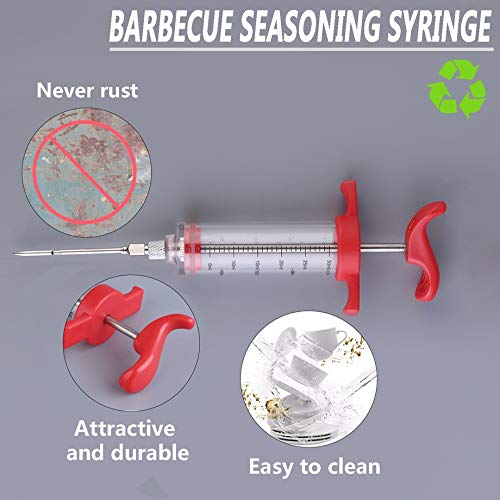 1pcs Marinade Injector Flavor Syringe Cooking Meat Poultry Turkey Chicken BBQ Tool Perfect and Flavor of Beef and Turkey