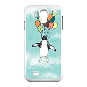 The arctic cute penguins art paintings Hard Plastic phone Case Cover For SamSung Galaxy S4 Case JWH9106789