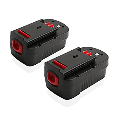 Energup hpb18-ope 18v 3.0Ah Black&Decker Replacement Battery for A1718 FS18FL FSB18 244760-00 Cordless Power Tools (2 Pack)