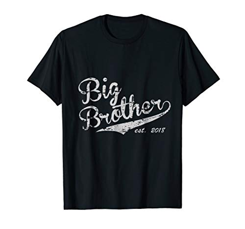 Big Brother Est. 2018 Vintage Style Tee - Adult & Youth Size