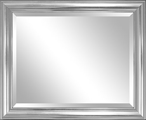 Alpine Mirror & Art Elevation Silver Wall Mirror with Bevel (Mirror Alpine)
