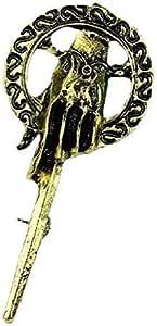 Legisdream Broche del Rey de Mano de Color Espada de Oro de la Canción de Hielo Joya Originales Ideas de Regalos para Cualquier ocasión