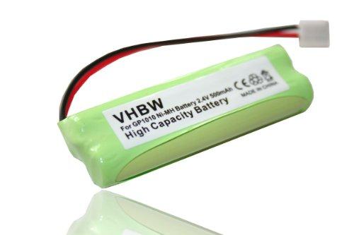 vhbw Ni-MH Akku 500mAh (2.4V) für Festnetz Telefon Medion MD82973, MD83024, MD83173, Life S63062, S63065, S63072 wie VT50AAAALH2BMJZ, GPHC05RN01.