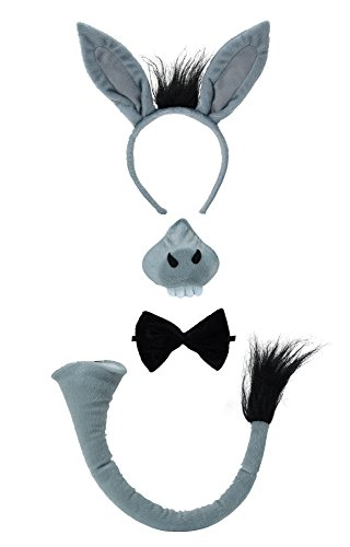 Bristol Novelty DS123 Donkey Costume Accessory Set and Sound, One Size -