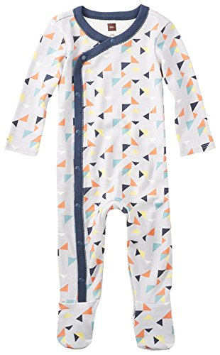Tea Collection Baby Boys Archer Footed Romper, Oyster Grey, (Collection Sleepwear)