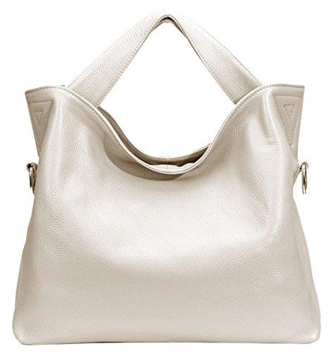 Leather Off Handbags Ladies Womens Soft white Saierlong Bags Shoulder Fashion Designer 80dqPxwt