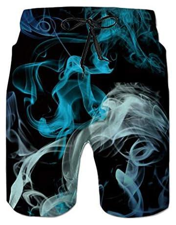 f23eac668b21 NEWISTAR Mens Medium Length 3D Print Graphic Summer Beach Shorts Surfing  Trunks