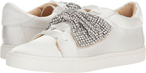 Blue by Betsey Johnson Women's SB-Maxi Sneaker, Ivory Satin, 9 M US by Blue by Betsey Johnson