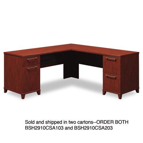 Bush - 72''W x 72''D L-Desk (B/D, F/F) Box 2 of 2 Enterprise: Harvest Cherry 2910CSA2-03 (DMi EA by Bush