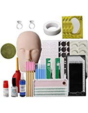 Wimpers Extension Praktijk Tool Set, Mannequin Training Hoofd, Make-up Eye Lashes Train Model Graft Kits voor Professionals & Beginners
