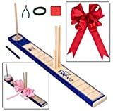 STORY2STORY E-Z Deluxe BowMaker Complete Start Up Kit Includes 1 BowMaker, 1 Wire Cutter, 1 Floral Wire 50ft, 1 Wired Ribbon 9ft. (Red Ribbon)