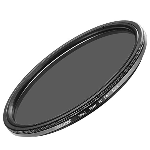 Neewer 52MM Ultra Slim ND2-ND400 Fader Neutral Density Adjustable Lens Filter for Camera Lens with 52MM Filter Thread Size, Made of Optical Class
