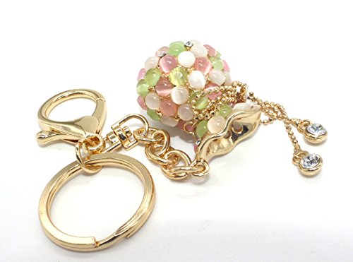 Xinyin Genuine Women And Grils Opal Keychain/Car Key Pendant (Jade Green)