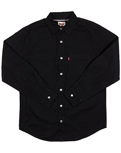Levi's Men's Barry Classic Denim Shirt - Black, Black, Large