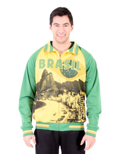 - Men's 2014 FIFA World Cup Soccer Brasil on Frame Sublimation Track Jacket (Adult Small)