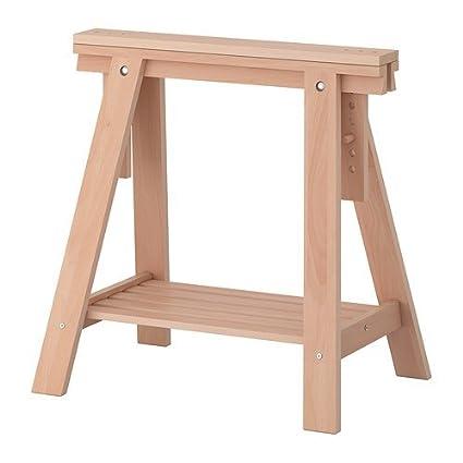 IKEA FINNVARD - caballete con bandeja de madera de haya - 70 x 71/93
