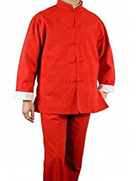 100% Cotton Red Kung Fu Martial Arts Tai Chi Uniform Suit M