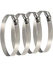 TUPARKA 4 Pcs Fascette stringitubo in metallo di grandi dimensioni 91-114 mm Morsetti per condotti regolabili Giunto per tubo di fissaggio tubi e tubi