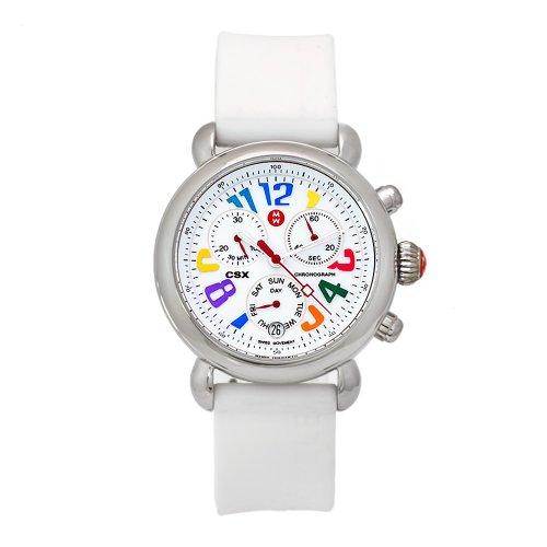 Michele Women's MWW03M000090 Carousel CSX White Silicone Strap Chronograph Watch