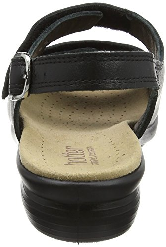 Toe Black Jet Women's Black Sandals Eee Hotter Open Easy 4wIn0