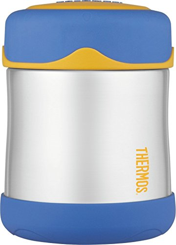 Thermos Stainless Steel Food Flask, Blue, 290 ml