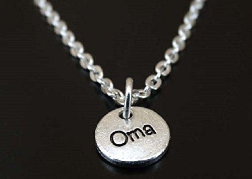 Grandma Necklace Oma Pendant Oma Gifts Oma Charm Oma Necklace Oma Jewelry