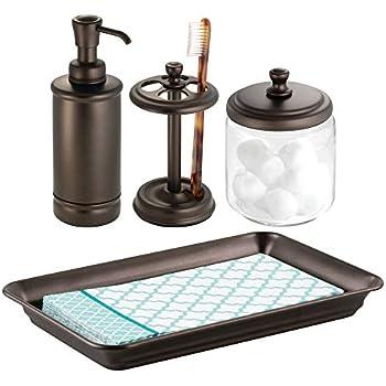 Amazon Com Mdesign Classic Bath Accessory Set For
