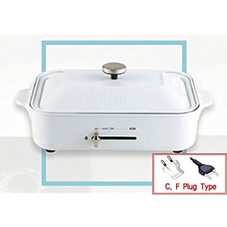 PRINCESS Retro Edition Electric Grilled Pan 220V Compact Multi Hot Plate Ceramic White