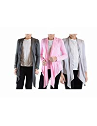 Big Girls' 3 Pack Long Sleeve Flyaway Cardigan Sweater (3-Pack)