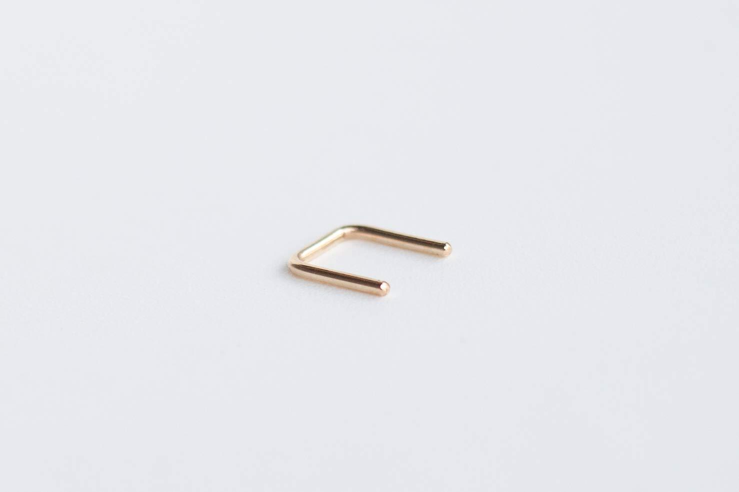 16g Gold Filled 14k Septum Staple Nose Piercing 16 gauge