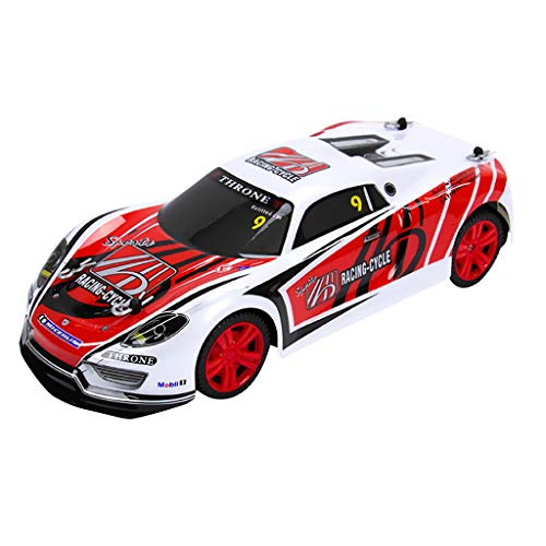 Cocal 1/14 Scale Electric Remote Control Cars, 2.4GHZ Wireless Radio Frequency Control High Power Headlight Racing Truck Toys Perfect Kids Gift (A)