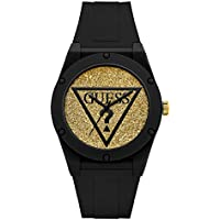GUESS Women's Iconic Glitter Sport Silicone Watch