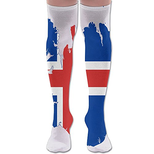 Men's Women's Flag Map Of Iceland Fashion Over Knee High Socks Athletic Tube Stockings Classic Sports Sock - Swimsuit Canada Sport