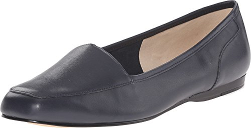 Bandolino Women's Liberty Navy Leather Loafer Flat - W - 8.5 Bandolino Leather Flats
