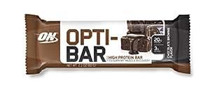 Optimum Nutrition Opti-Bar Protein Bar, Chocolate Brownie, 12 Count
