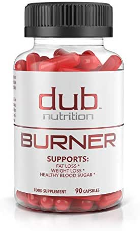 Fat Burner by dub Nutrition | Best Weight Loss Pills Thermogenic Supplement | Natural Energy and Appetite Suppressant, Includes Red Rasberry Ketones, Guarana, and BCAA. 90 Capsules. Fast Absorbing.