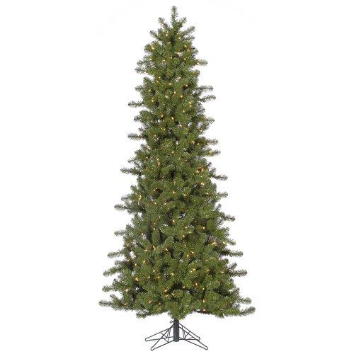 vickerman 75 slim ontario spruce artificial christmas tree with 500 clear lights - 75 Pre Lit Christmas Tree
