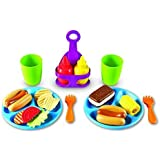 Learning Resources New Sprouts Cookout! Food, Pretend Play Food, 19 Pieces, Ages 18 mos+