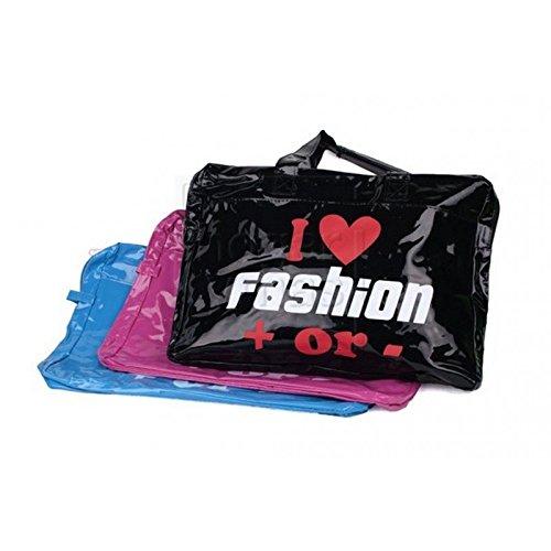 Griff Tasche mit Klettverschluss - Rosa